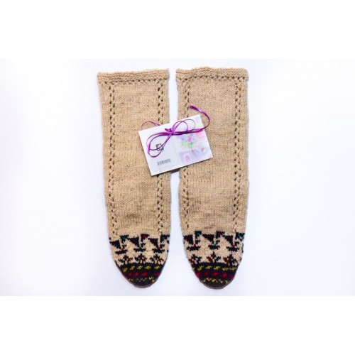 Knitted socks - 100 %  - wool