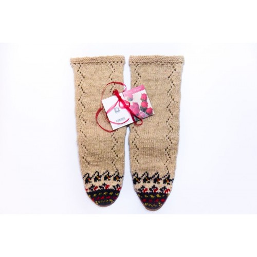 Knitted socks 3 - 100 %  - wool
