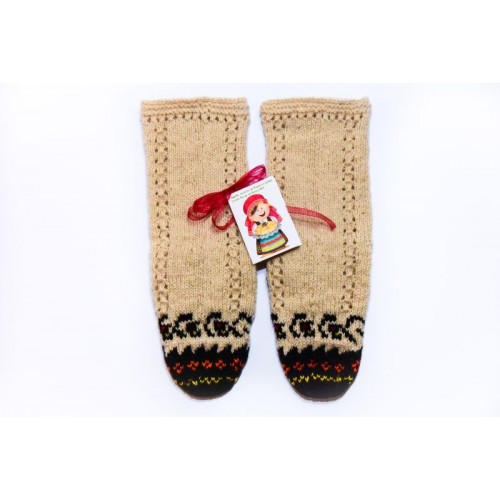 Knitted socks 5 - 100 %  - wool