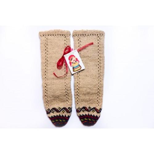 Knitted socks 12 - 100 %  - wool