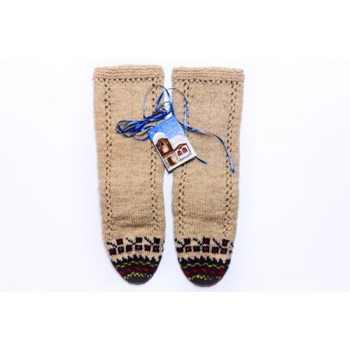 Knitted socks 13 - 100 %  - wool