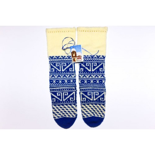 Knitted socks 29 - 100 % - wool