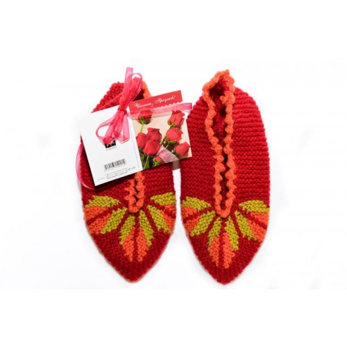Knitted slippers 2 - 100 % - wool