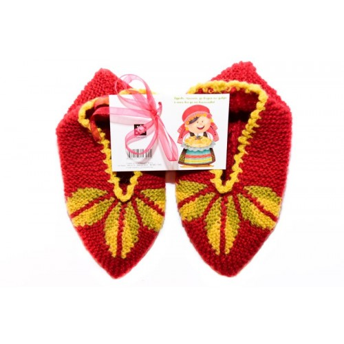 Knitted slippers 3 - 100 % - wool
