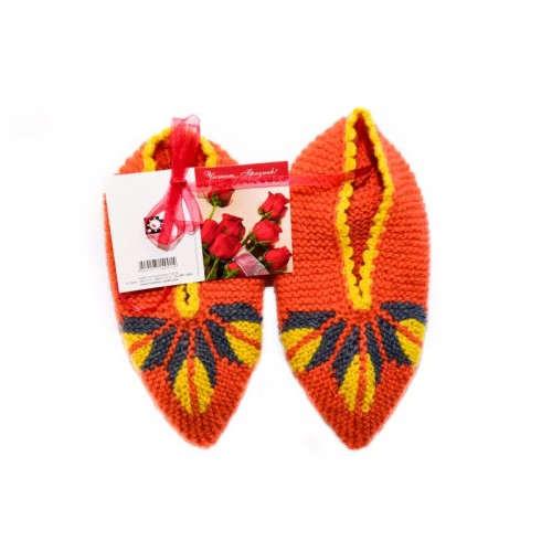 Knitted slippers 4 - 100 % - wool