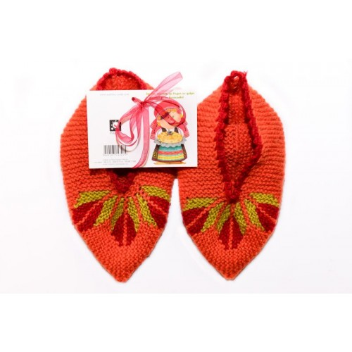 Knitted slippers 5 - 100 % - wool