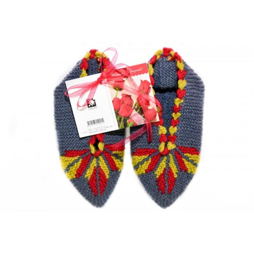 Knitted slippers 6 - 100 % - wool