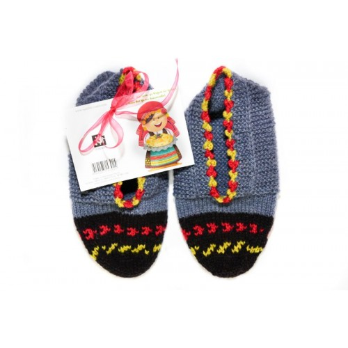 Knitted slippers 9 - 100 % - wool