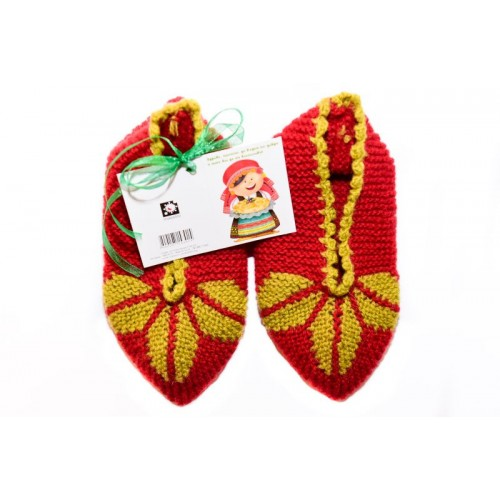 Knitted slippers 10 - 100 % - wool