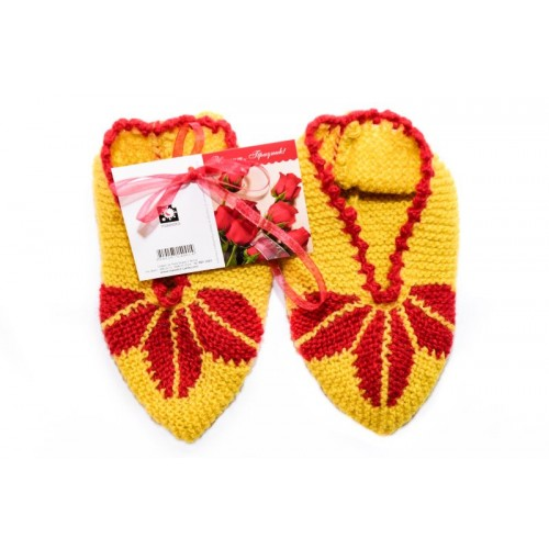 Knitted slippers 11 - 100 % - wool