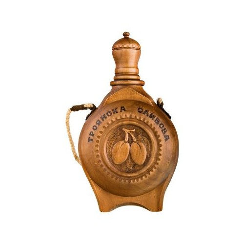 Wooden vessel - Old Troyan plum rakia - 0.5 l.