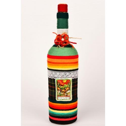 Handmade decorated bottle 5