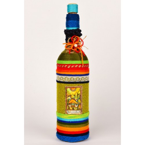 Handmade decorated bottle 6