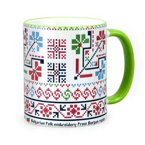 Mug with embroidery from Bourgas region