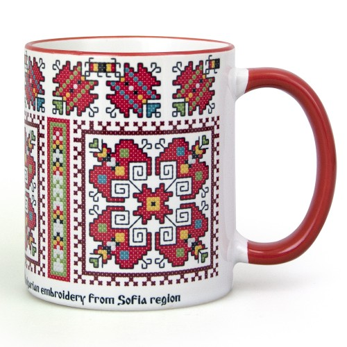 Mug with embroidery from Buhovo region