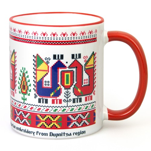 Mug with embroidery from Dupnitsa region