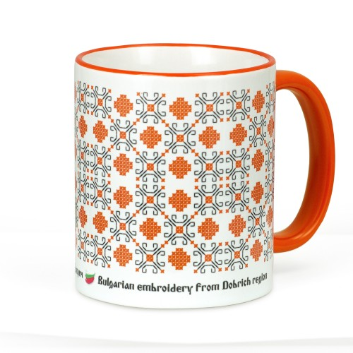 A mug with an embroidery from the Dobrich