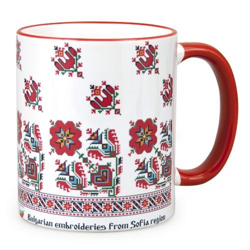 """Mug with """"Shevitsa"""" embroidery from Sofia region"""