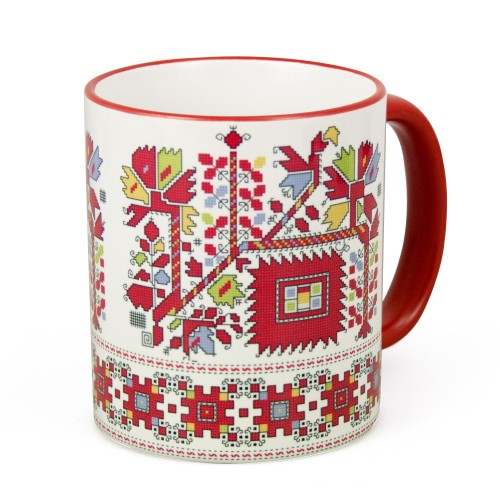 Mug with embroidery from Graovo region