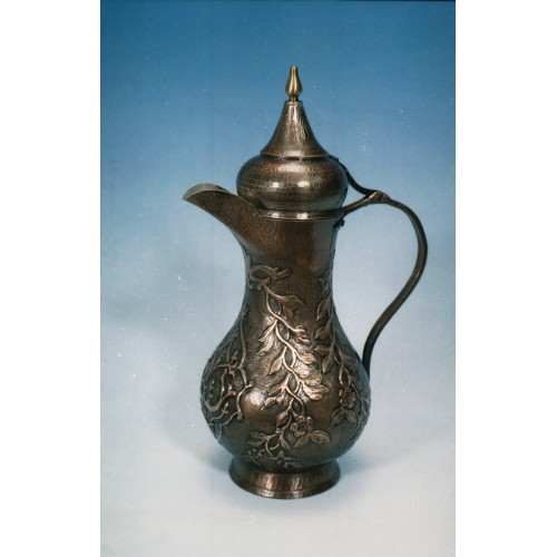 Copper embossed pot