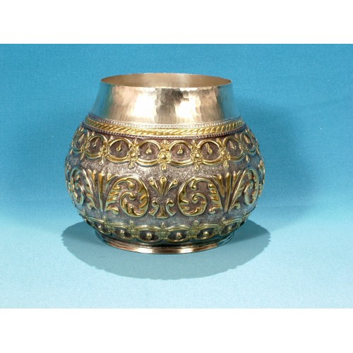 Hand-wrought copper jezve with lid for 6 coffees - on request - ArtBulgaria