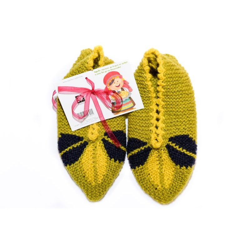 Knitted slippers - 100 % - wool