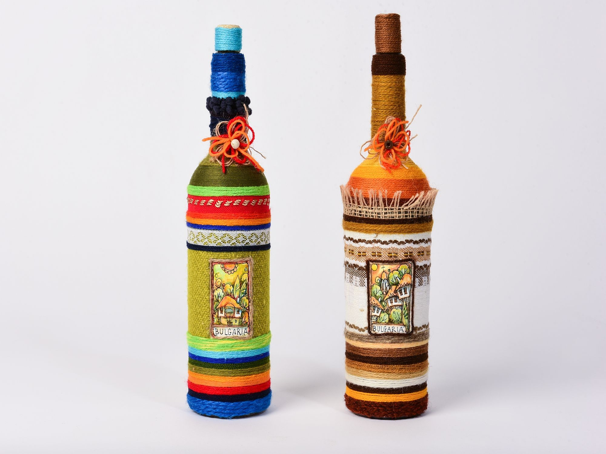 Handmade decorated bottles